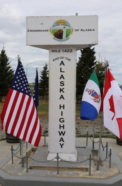 End of Alska Highway