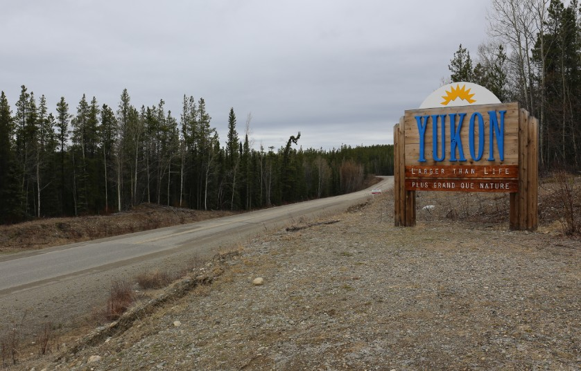 Entering Yukon