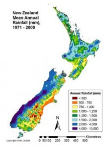 Rainfall westcoast NZ