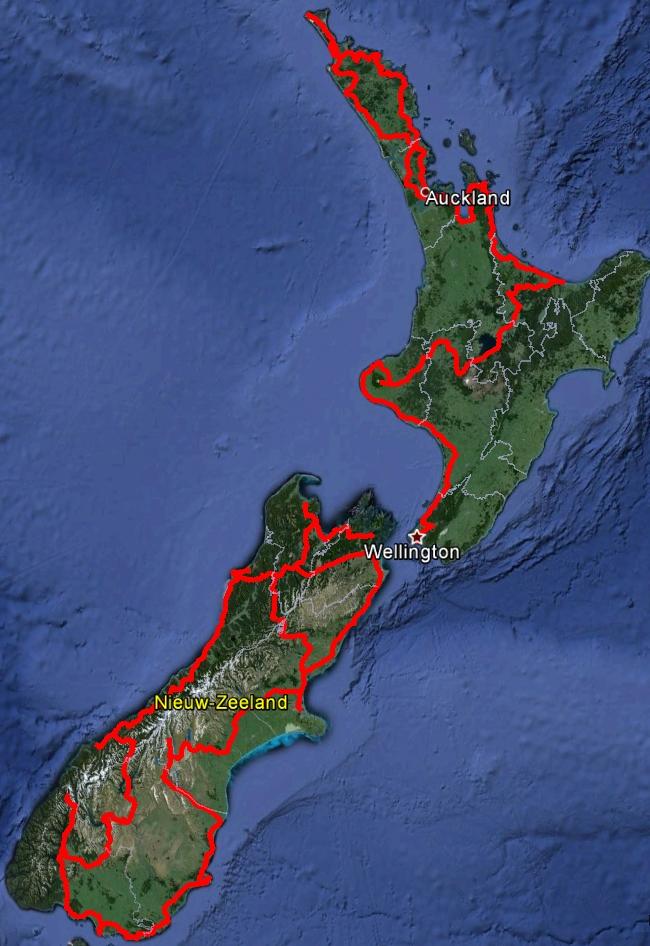 Routevoorbereiding New Zealand